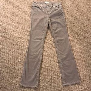 Ann Taylor Loft Boot cut corduroy pants sz 4 gray